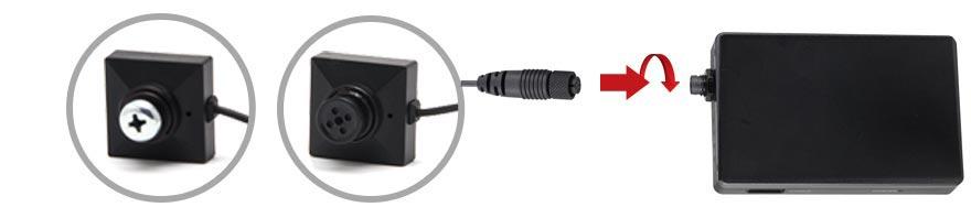 connexion camera cachee